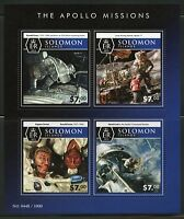 SOLOMON ISLANDS 2015 THE APOLLO MISSIONS  SHEET MINT NH