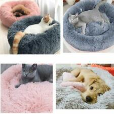 Warm Pet Dog Cat Comfortable Beds Cuddler Round Ultra Soft Washable Mattress S-X