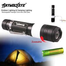 3800Lumen CREE T6 LED Rechargeable Flashlight Torch Camping USB 18650 Battery 2⑨