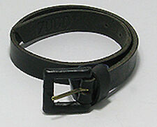 SEXY Natural BLACK Leather Belt Bracelet Cuff HANDMADE stylish and trendy!