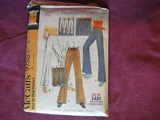 """Vintage McCalls Pattern 9788 Miss Pants Waist 27"""" Hip 38"""" Wide Leg/Bell Bottoms"""