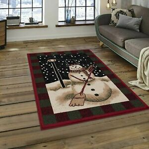 4 x 5 ~ Snowman ~ Christmas Holiday Area Rug Seasonal Winter NEW