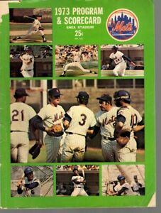 1973 MLB Baseball Program, Montreal Expos @ New York Mets, unscored ~ Fair