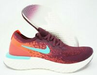 Nike Womens Epic React Flyknit Running Shoes Bordeaux Red AR5518-600 Size