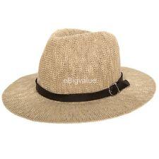 Beige Women s Brim Fedora Aerusi Coral Jones Floppy Summer Beach Sun Straw  Hat 9db0a34af922
