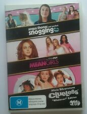 ANGUS, THONGS & PERFECT SNOGGING/MEAN GIRLS/CLUELESS - 3-Pack DVD Set - VGC