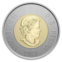 🇨🇦 2021 Canada SPECIMEN Toonie 2 Dollars Coin Polar Bear Bi-Metallic, UNC 2021