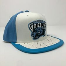 Vancouver Grizzlies NBA Mitchell & Ness Leather Brim Retro White / Blue Snapback