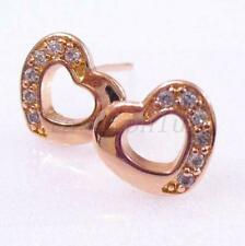 Cubic Zirconia Rose Gold Simulated Fashion Earrings