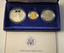 1986 Liberty Commemorative 3 Coin Proof Set - Gold & Silver - w/ Box & COA