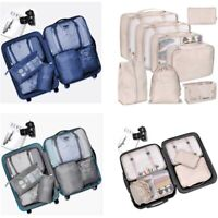 8pcs Set Luggage Organiser Suitcase Storage Bags Clothes Packing Travel Cube