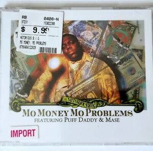 NOTORIOUS BIG SEALED MO MONEY MO PROBLEMS IMPORT CD P DIDDY RAP HIP HOP BAD BOY