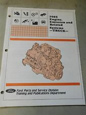 Nos 1984 Ford Ranger Bronco F150 F250 F350 Engine Emissions Systems Shop Manual