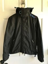 Superdry Original Windbomber Black Hooded Jacket Mens Size XS
