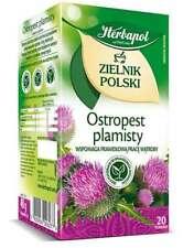 Herbapol - Milk Thistle  20 tea bags  - Ostropest Plamisty  Silybum marianum