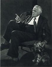 1960s Vintage Robert Frost Portrait Yousuf Karsh Photogravure Photo Print