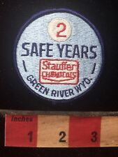 STAUFFER CHEMICALS 2 Safe Years Green River Wyoming Patch 76WH