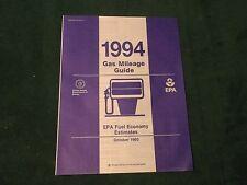 MINT 1994 GAS MILEAGE GUIDE EPA FUEL ECONOMY ESTIMATES CARS & LIGHT TRUCK  (835)