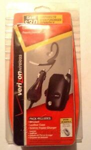 Verizon Wireless Essential Package Headset Case Car Charger