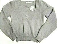ASTR The Label Womens Small Gray Sweater Sweetheart Neck Cropped NWT