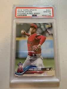 2018 Topps Update SHOHEI OHTANI Rookie RC #US1 PSA 10