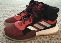 Adidas Marquee Boost Basketball Shoes Red/Black Youth Boys Size 7 - BB9319