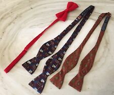 Park Lane & Lands End  Bow Ties  Lot  Red & Coral Color