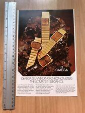 Omega 1973 Advertisement Pub Ad Werbung