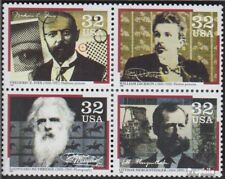 USA 2695-2698 Viererblock (kompl.Ausg.) postfrisch 1996 Pioniere der Medientechn