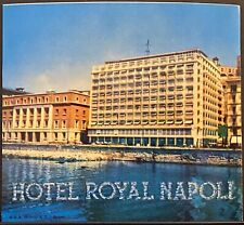Vintage Luggage Label ~ Hotel Royal Napoli ~ Naples ITALY ~ Richter Label