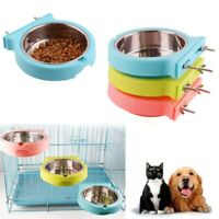 Pet Crate Cage Hanging Bowl Dog Cat Drinking Water Feeder Bowls Puppy Feeding AU