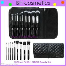 NEW BH Cosmetics 9-Piece DUAL FIBER Brush Set w/Case FREE SHIPPING Face Makeup