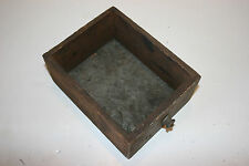 Antique Industrial Wooden Cabinet Draw Box Tin Bottom