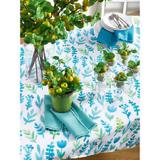 Occasion Gallery Blue Color Printed Botanical Table Topper / Tablecloth , 5