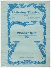 "1905 Criterion Theatre programme ""White Crysanthemum"" (Gilbert & Sullivan stars)"