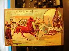 Cartolina 548   Grande Fiera di Cavalli, Verona.      Riproduzione da originale