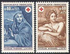 France 1969 Red Cross/Medical/Health/Welfare/Art/Summer/Winter 2v set  n20401