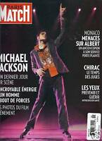 Michael Jackson Paris Match Magazine Prince Albert Jacques Chirac Rio Gangs 2009