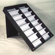 VERTICAL PORTABLE SUNGLASS COVERED 16 PAIR DISPLAY TRAY STANDUP sunglasses rack