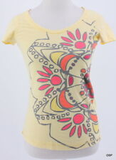 Lole ladies organic cotton Floral Print Graphic Scoop Neck Tee Shirt Size XS