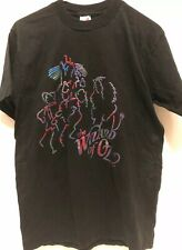 Vintage The Wizard of Oz multi color Size M Medium Black T-shirt.
