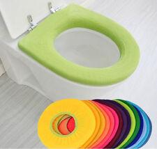 HOAU Soft Closestool Washable Lid Top Cover Bathroom Warmer Toilet Seat Cloth