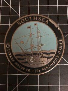 Southsea Lennox Motor Co. LTD. Portsmouth 27531 Car Badge