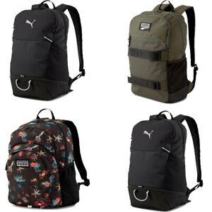 Puma Backpack Rucksack Sports Gym Training Travel School Bag Backpacks Black