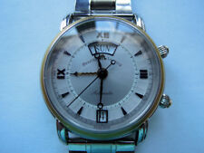 18K Solid Gold SS Maurice Lacroix Alarm Date Day Automatic Master Piece Reveil
