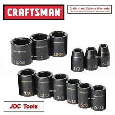 Craftsman 12 pc SAE Standard Depth Impact Socket Set - NEW