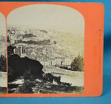 1870s French Stereoview Photo Lyon Panorama Croix Russe Observatoires Gay France