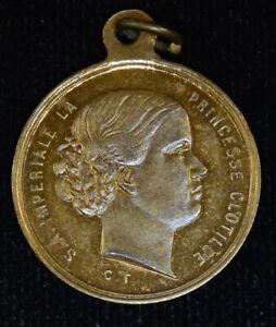 France CH BU+ 23mm Bronze Napoleon Clotilde Colorful tone Medal Lustrous