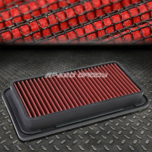 FOR 13-16 FRS/BRZ 05-10 TC RED REUSABLE/WASHABLE DROP IN AIR FILTER PANEL