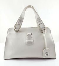 Etienne Aigner White Leather Satchel Bag, Women's